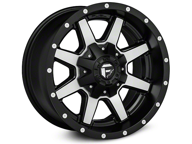 Fuel Wheels Maverick Black Machined Wheels (07-18 Jeep Wrangler JK)