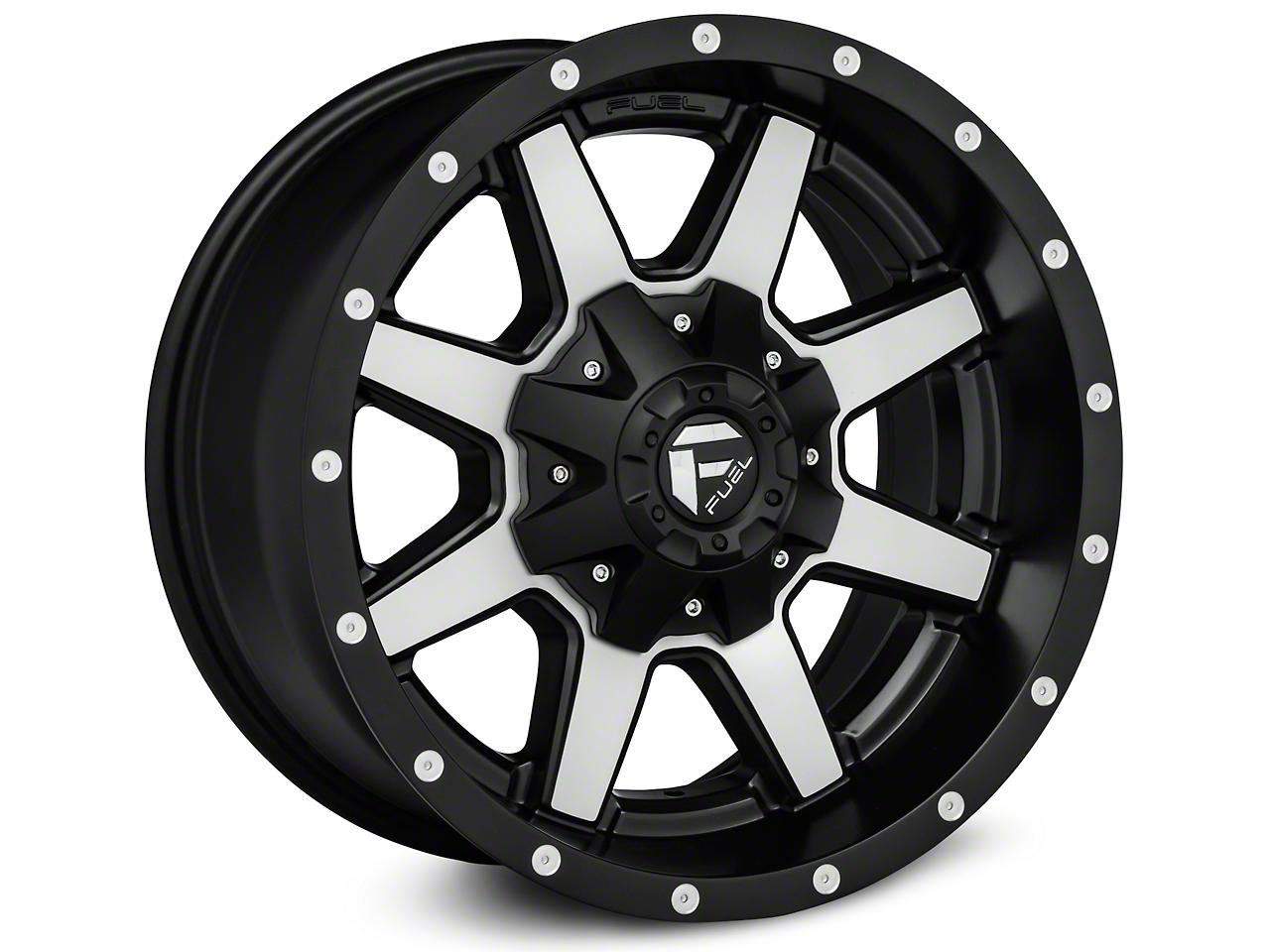 Fuel Wheels Maverick Black Machined Wheels (07-18 Wrangler JK; 2018 Wrangler JL)