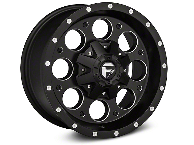 Fuel Wheels Revolver Black Machined Wheels (07-18 Wrangler JK; 2018 Wrangler JL)