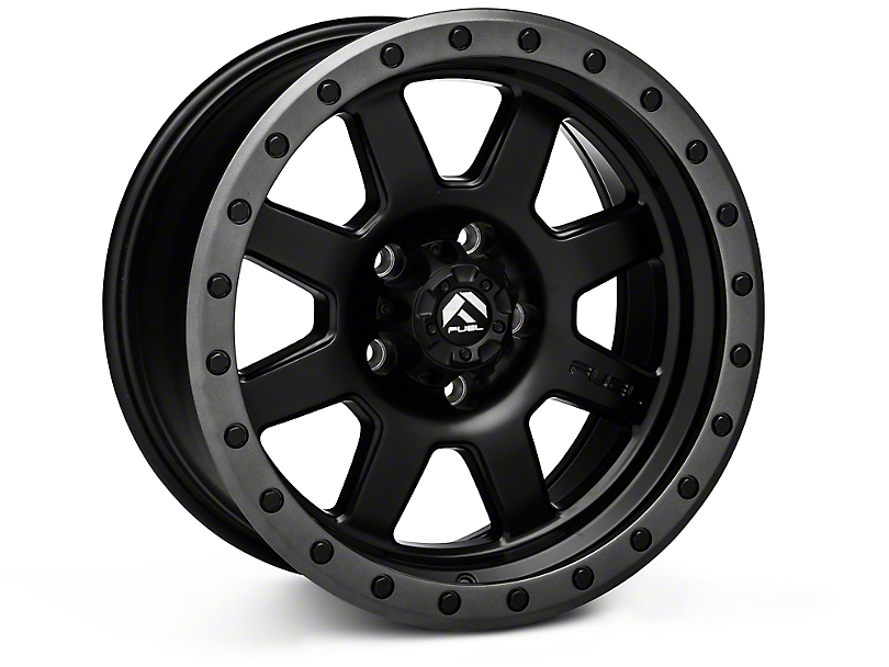 Fuel Wheels Trophy Matte Black with Anthracite Ring Wheels (07-18 Wrangler JK)