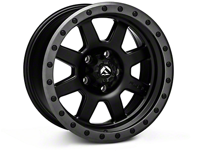 Fuel Wheels Trophy Matte Black w/ Anthracite Ring Wheels (07-18 Wrangler JK; 2018 Wrangler JL)