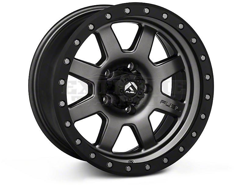 Fuel Wheels Trophy Matte Anthracite w/ Black Ring Wheels (07-18 Wrangler JK; 2018 Wrangler JL)