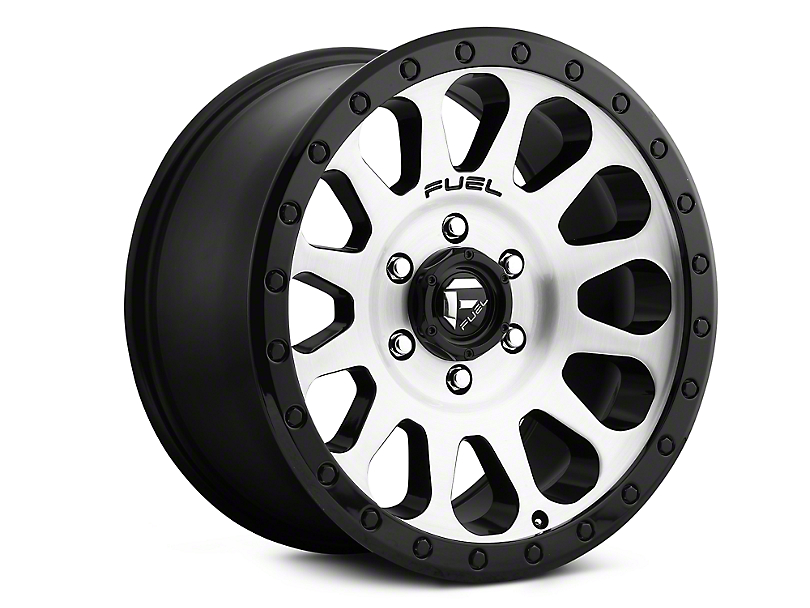 Fuel Wheels Vector Black Machined Wheels (07-18 Jeep Wrangler JK; 2018 Jeep Wrangler JL)