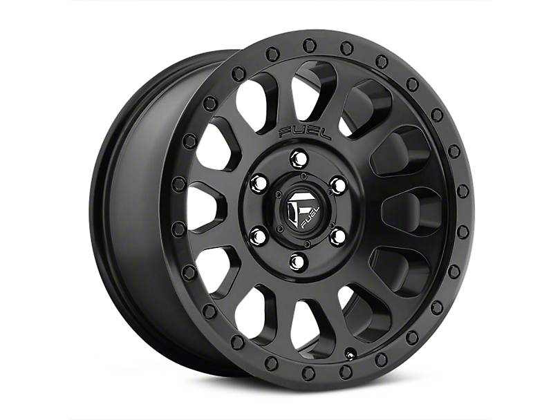 Fuel Wheels Vector Matte Black Wheels (07-18 Jeep Wrangler JK; 2018 Jeep Wrangler JL)