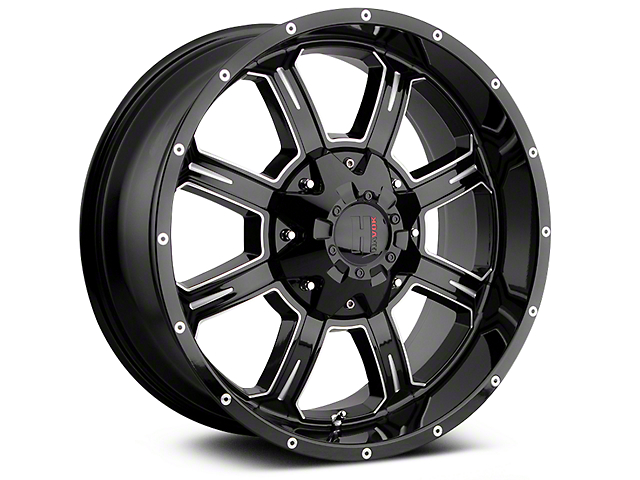 Havok Off-Road H-101 Black Machined Wheels (07-18 Jeep Wrangler JK; 2018 Jeep Wrangler JL)