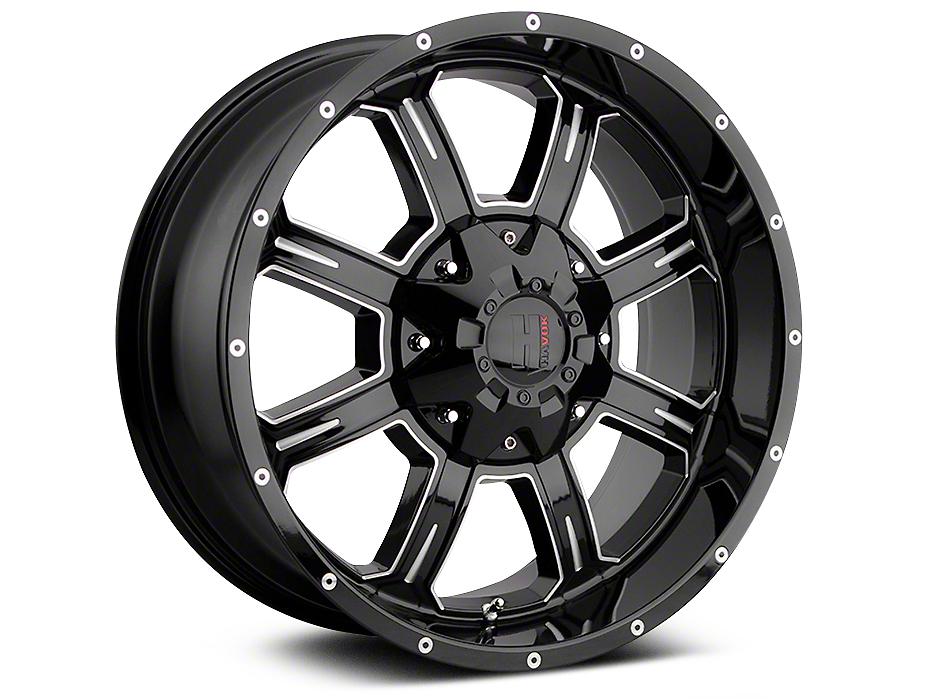 Havok Off-Road H-101 Black Machined Wheels (07-18 Wrangler JK; 2018 Wrangler JL)