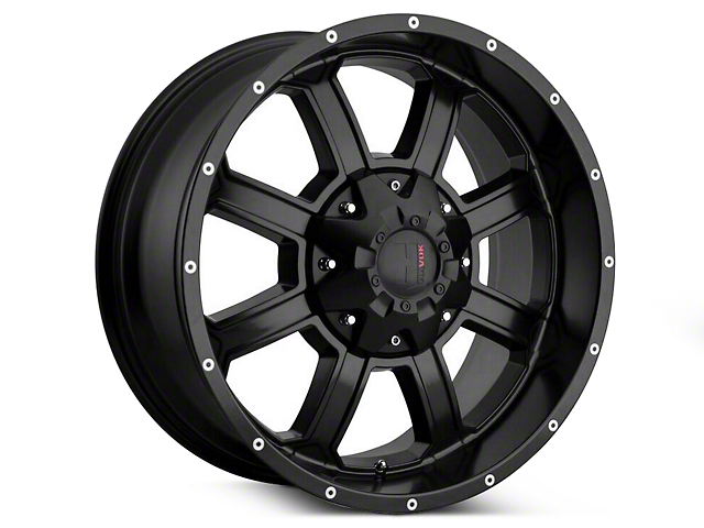 Havok Off-Road H-101 Matte Black Wheels (07-18 Wrangler JK; 2018 Wrangler JL)
