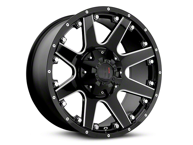Havok Off-Road H-102 Black Machined Wheels (07-18 Wrangler JK)