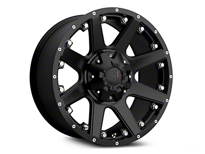 Havok Off-Road H-102 Matte Black Wheels (07-18 Wrangler JK; 2018 Wrangler JL)