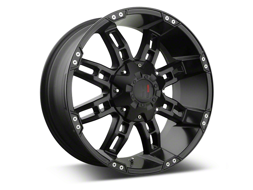 Havok Off-Road H-103 Matte Black Wheels (07-18 Jeep Wrangler JK; 2018 Jeep Wrangler JL)