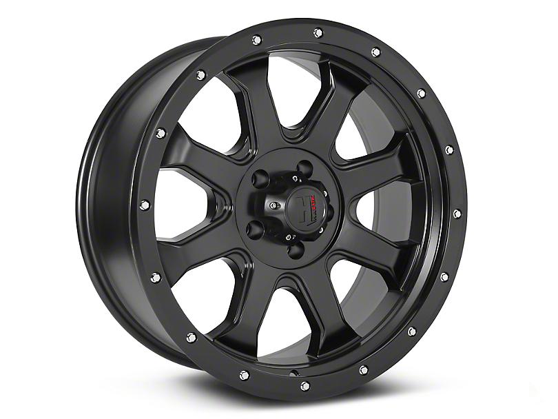 Havok Off-Road H-105 Matte Black Wheels (07-18 Wrangler JK; 2018 Wrangler JL)