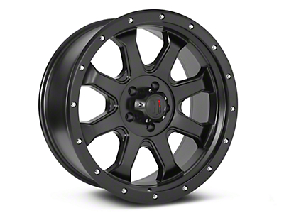 Havok Off-Road H-105 Matte Black Wheels (07-18 Wrangler JK; 2018 Wrangler JL)