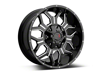 Havok Off-Road H-106 Black Machined Wheels (07-18 Wrangler JK; 2018 Wrangler JL)