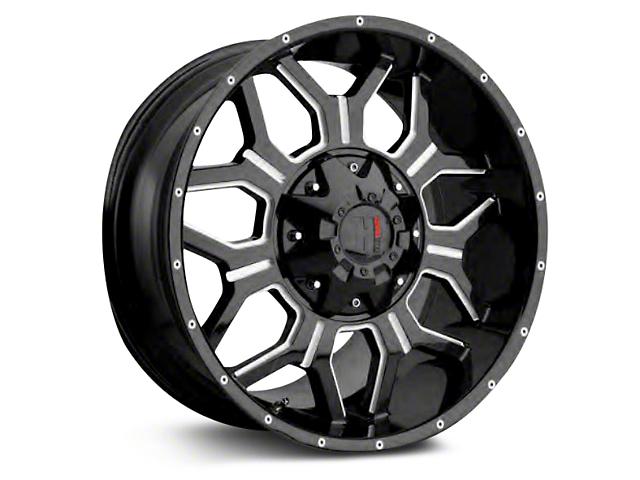 Havok Off-Road H-106 Matte Black Wheels (07-18 Wrangler JK; 2018 Wrangler JL)