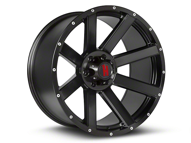 Havok Off-Road H-107 Matte Black Wheels (07-18 Wrangler JK)
