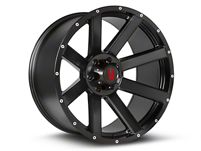 Havok Off-Road H-107 Matte Black Wheels (07-18 Wrangler JK; 2018 Wrangler JL)
