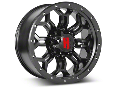 Havok Off-Road H-108 Matte Black Wheels (07-18 Wrangler JK; 2018 Wrangler JL)