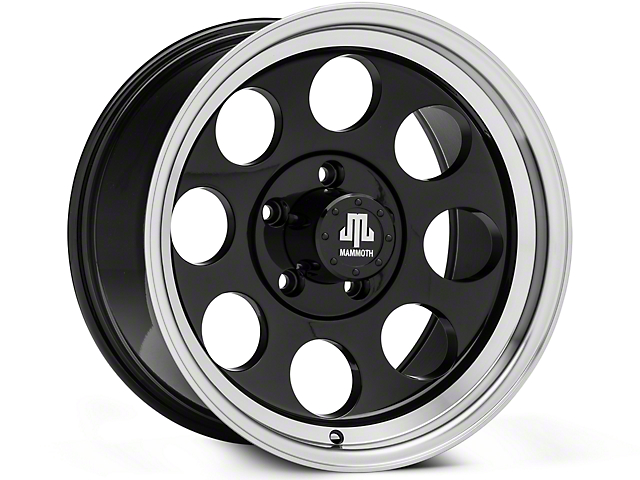 Mammoth 8 Aluminum Black Wheels (07-18 Wrangler JK; 2018 Wrangler JL)
