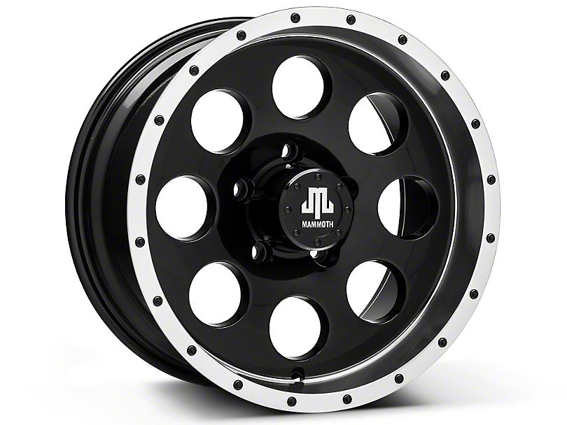 Mammoth 8 Beadlock Style Black Wheels (07-18 Wrangler JK; 2018 Wrangler JL)