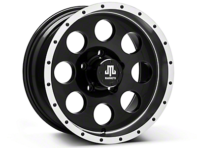 Mammoth 8 Beadlock Style Black Wheels (07-18 Jeep Wrangler JK; 2018 Jeep Wrangler JL)