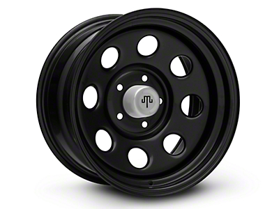Mammoth 8 Steel Black Wheels (07-18 Wrangler JK; 2018 Wrangler JL)