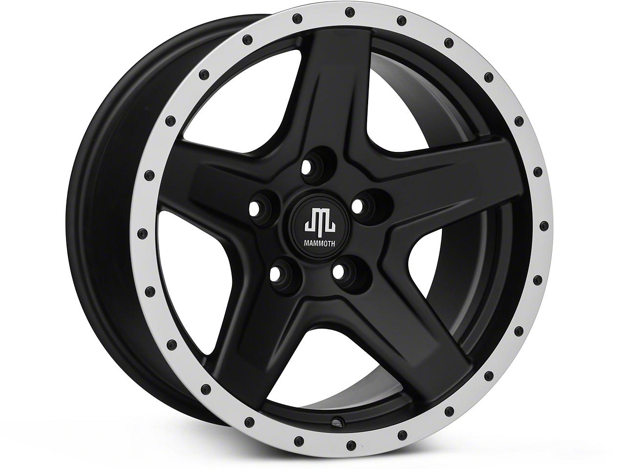 Mammoth Boulder Beadlock Style Black Wheels (07-18 Jeep Wrangler JK; 2018 Jeep Wrangler JL)