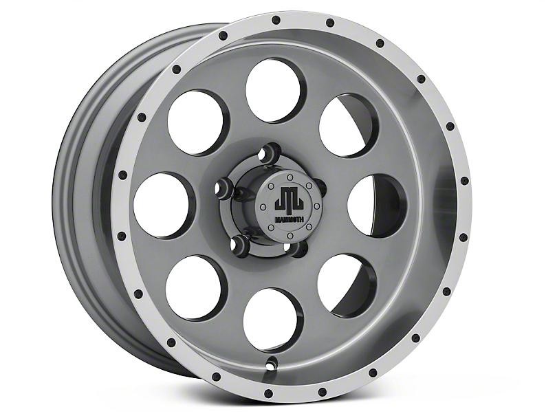 Mammoth 8 Beadlock Style Anthracite Wheels (07-18 Jeep Wrangler JK; 2018 Jeep Wrangler JL)