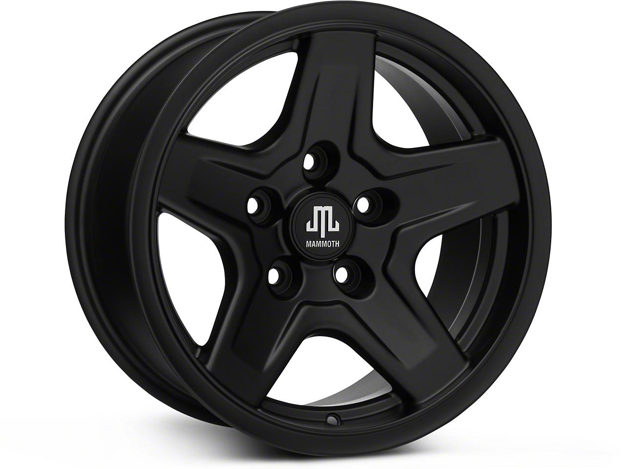 Mammoth Boulder Black Wheels (07-18 Wrangler JK; 2018 Wrangler JL)