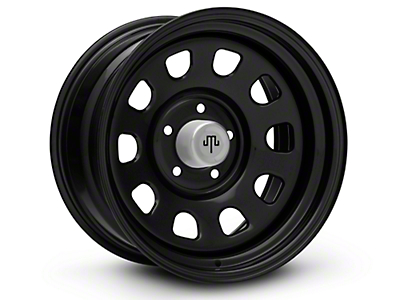 Mammoth D Window Black Steel Wheels (07-18 Wrangler JK; 2018 Wrangler JL)