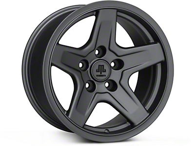 Mammoth Boulder Charcoal Wheels (07-18 Jeep Wrangler JK; 2018 Jeep Wrangler JL)