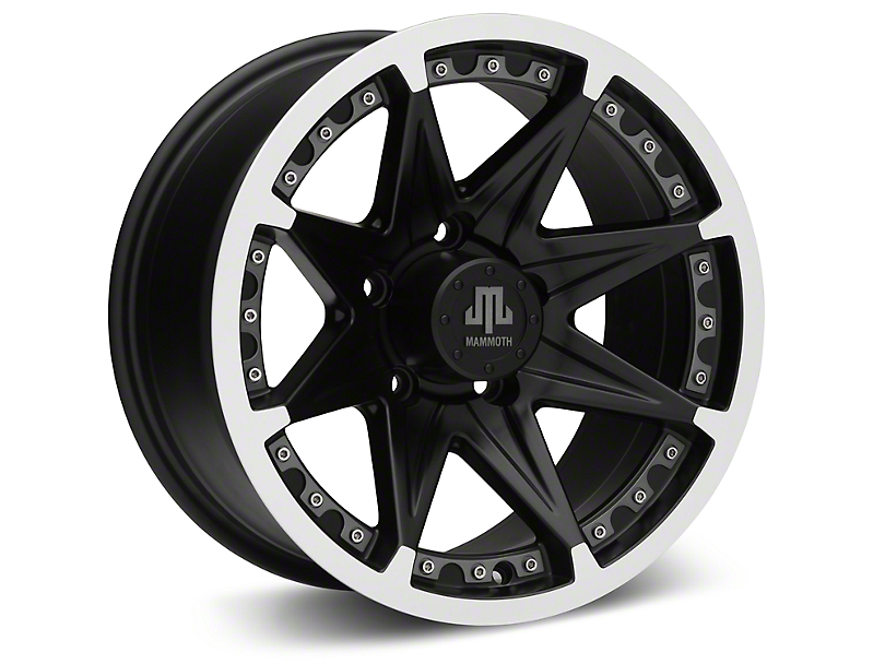 Mammoth Type 88 Black Wheels (07-18 Jeep Wrangler JK)