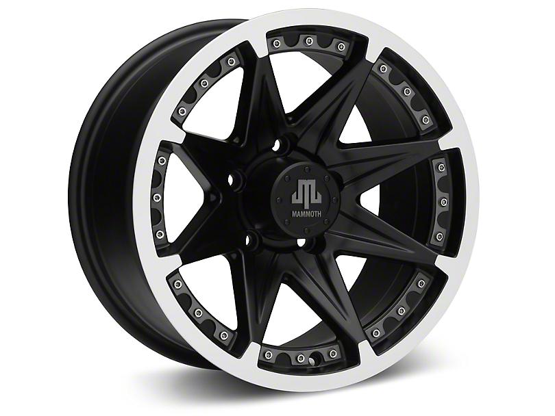 Mammoth Type 88 Black Wheels (07-18 Wrangler JK; 2018 Wrangler JL)