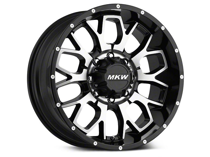 MKW Offroad M95 Black Machined Wheels (07-18 Wrangler JK; 2018 Wrangler JL)