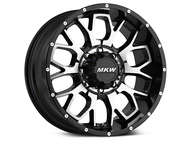 MKW Offroad M95 Black Machined Wheels (07-18 Wrangler JK)