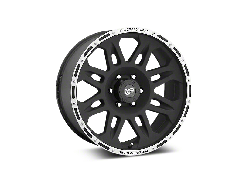 Pro Comp Alloy Series 7105 Flat Black Wheels (07-18 Wrangler JK; 2018 Wrangler JL)