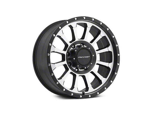 Pro Comp Series 34 Black Machined Wheels (07-18 Jeep Wrangler JK; 2018 Jeep Wrangler JL)
