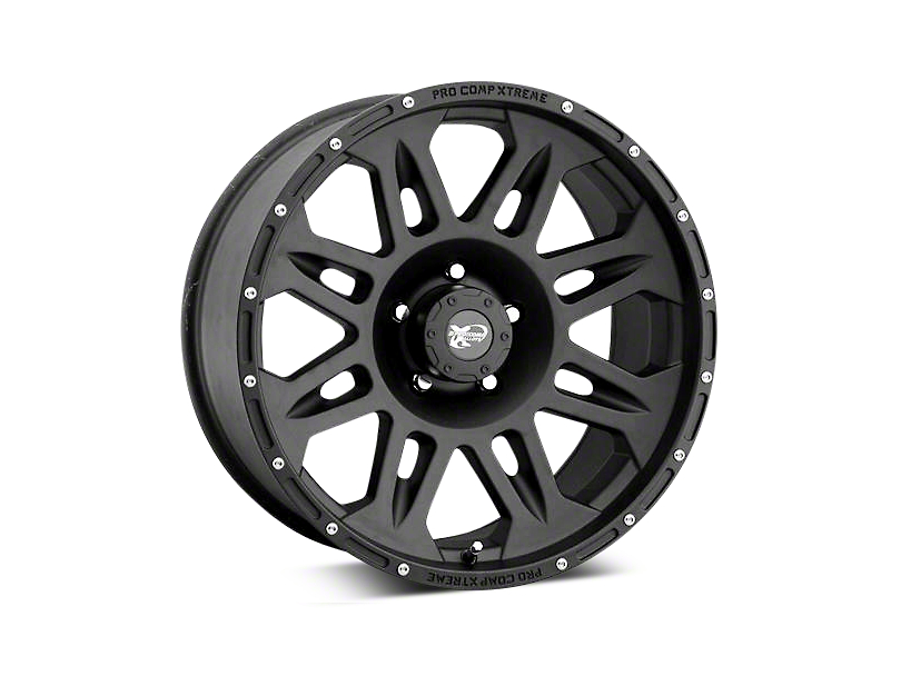 Pro Comp Alloy Series 7005 Black Wheels (07-18 Wrangler JK)