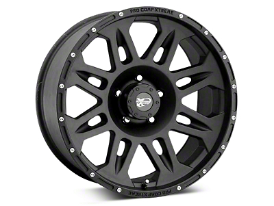 Pro Comp Alloy Series 7005 Flat Black Wheels (07-18 Wrangler JK; 2018 Wrangler JL)