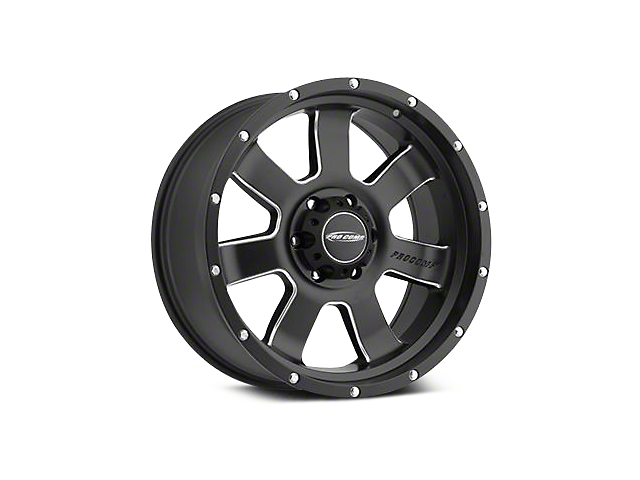 Pro Comp Alloy Series 39 Inertia Satin Black Milled Wheels (07-18 Wrangler JK; 2018 Wrangler JL)