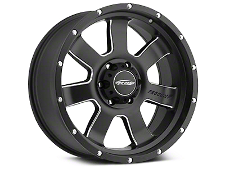 Pro Comp Alloy Series 39 Inertia Satin Black Milled Wheels (07-18 Wrangler JK; 2018 Wrangler JL)