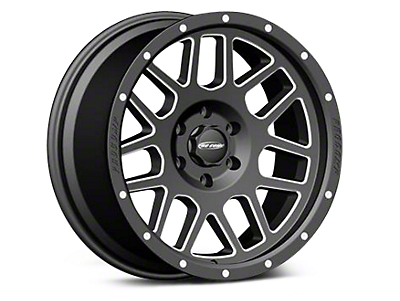 Pro Comp Alloy Series 40 Vertigo Satin Black Milled Wheels (07-18 Wrangler JK; 2018 Wrangler JL)