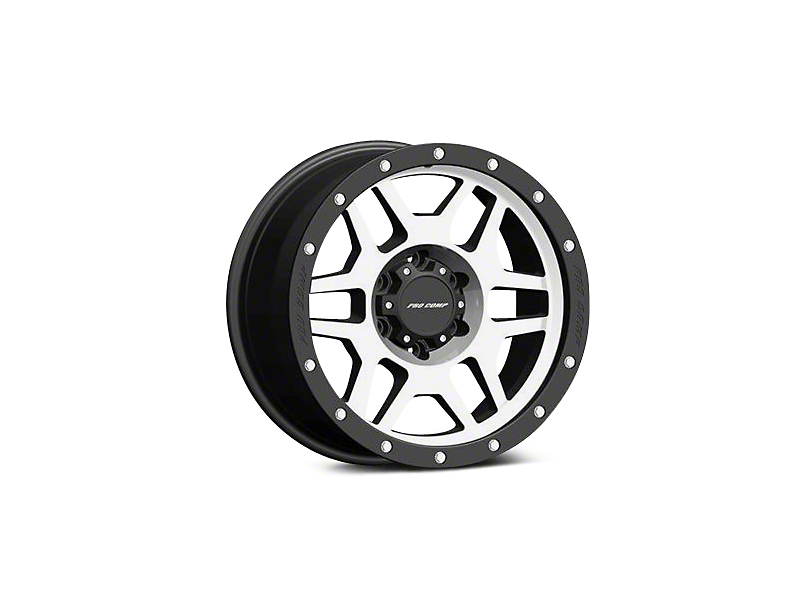Pro Comp Alloy Series 41 Phaser Black Machined Wheels (07-18 Jeep Wrangler JK; 2018 Jeep Wrangler JL)
