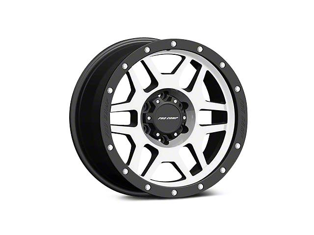 Pro Comp Alloy Series 41 Phaser Black Machined Wheels (07-18 Wrangler JK; 2018 Wrangler JL)
