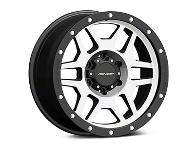 Pro Comp Alloy Series 41 Phaser Black Machined Wheels (07-18 Wrangler JK; 2018 Wrangler JL)
