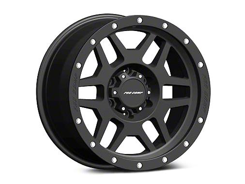 Pro Comp Alloy Series 41 Phaser Satin Black Wheels (07-18 Wrangler JK; 2018 Wrangler JL)