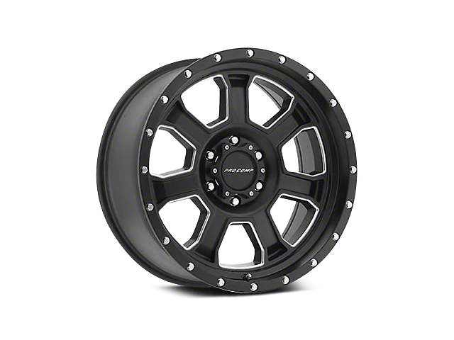 Pro Comp Alloy Series 43 Sledge Satin Black Milled Wheels (07-18 Jeep Wrangler JK; 2018 Jeep Wrangler JL)