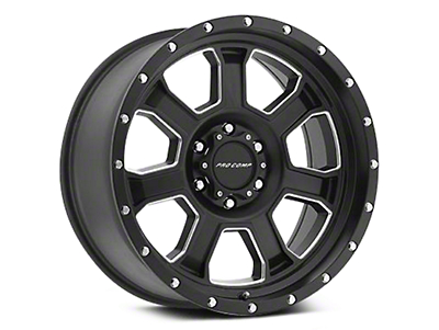 Pro Comp Alloy Series 43 Sledge Satin Black Milled Wheels (07-18 Wrangler JK; 2018 Wrangler JL)