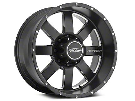 Pro Comp Alloy Series 83 Vapor Satin Black Milled Wheels (07-18 Wrangler JK; 2018 Wrangler JL)