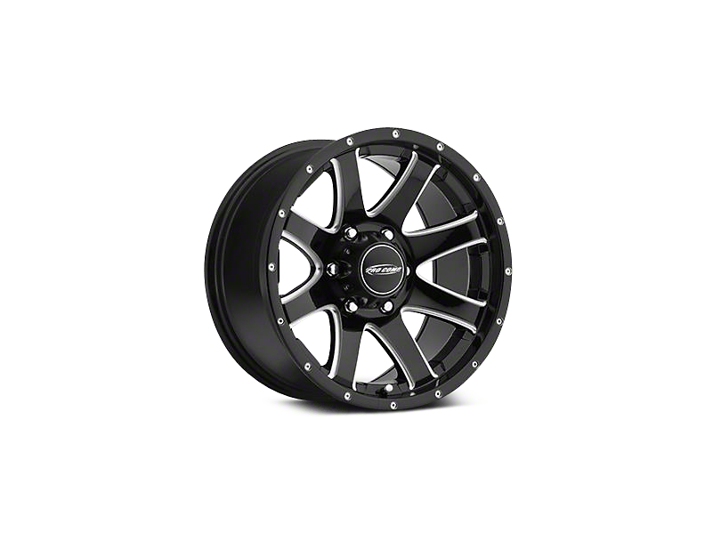 Pro Comp Series 86 Black Machined Wheels (07-18 Wrangler JK; 2018 Wrangler JL)