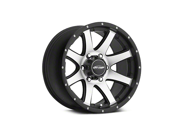 Pro Comp Series 86 Black with Machined Face Wheels (07-18 Jeep Wrangler JK; 2018 Jeep Wrangler JL)